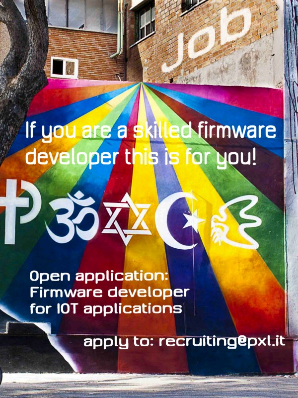 Job application: Firmware developer for IOT applications